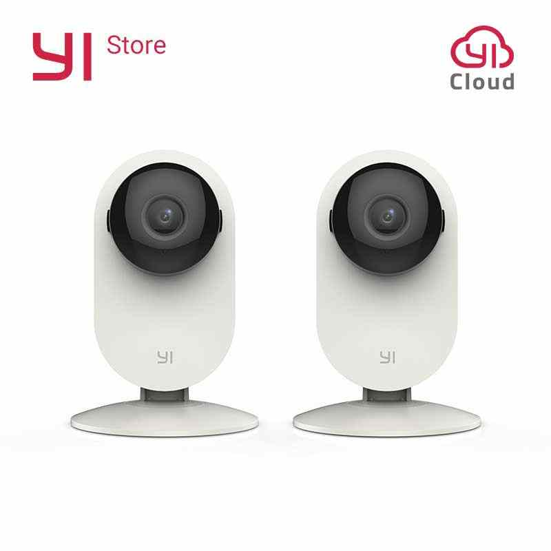YI Home Camera 2pcs 720P Night Vision WIFI Video Monitor IP/Wireless Network Surveillance Security Internation Version Cloud