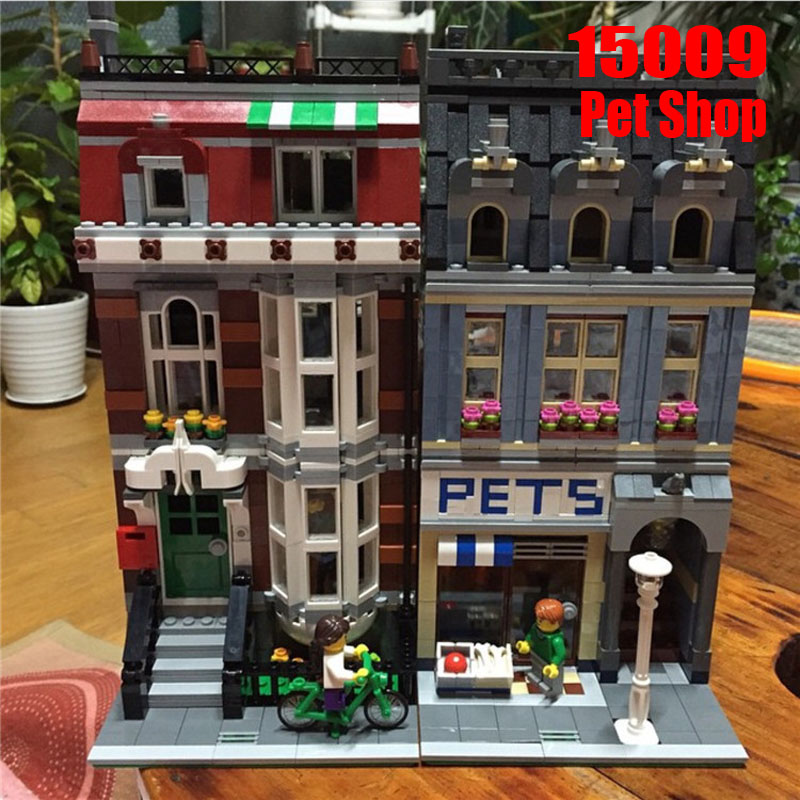 Legoings 2128PCS Pet Shop Supermarket Sets Model City Street View Building Blocks Bricks Toys For ChildrenLegoings 2128PCS Pet Shop Supermarket Sets Model City Street View Building Blocks Bricks Toys For Children