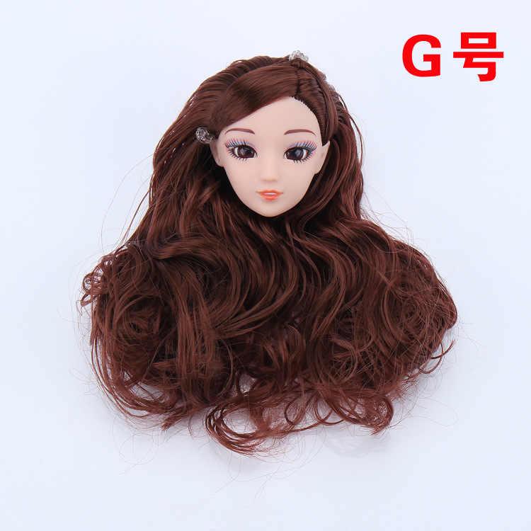 ثلاثية الأبعاد رئيس براون مجعد الشعر لتقوم بها بنفسك اكسسوارات ل دمية باربي أفضل فتاة هدية لعب اطفال wt001-1