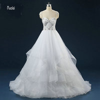 New Arrival Charming 2016 White Tulle Heavy Beading Crystal Ball Gown Cap Sleeves Open Back Formal