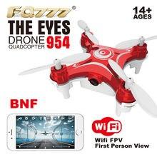 F16448/50 FQ777 954 БНФ в Средства ухода для век Радиоуправляемый квадрокоптер Nano WI-FI Камера FPV-системы 6 оси гироскопа БНФ нет контроллер Черные, белые, красные мини Drone