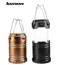 LOMOM Camping Light Outdoor Rechargeable LED Flashlight Usb Solar Camping Lantern for AA