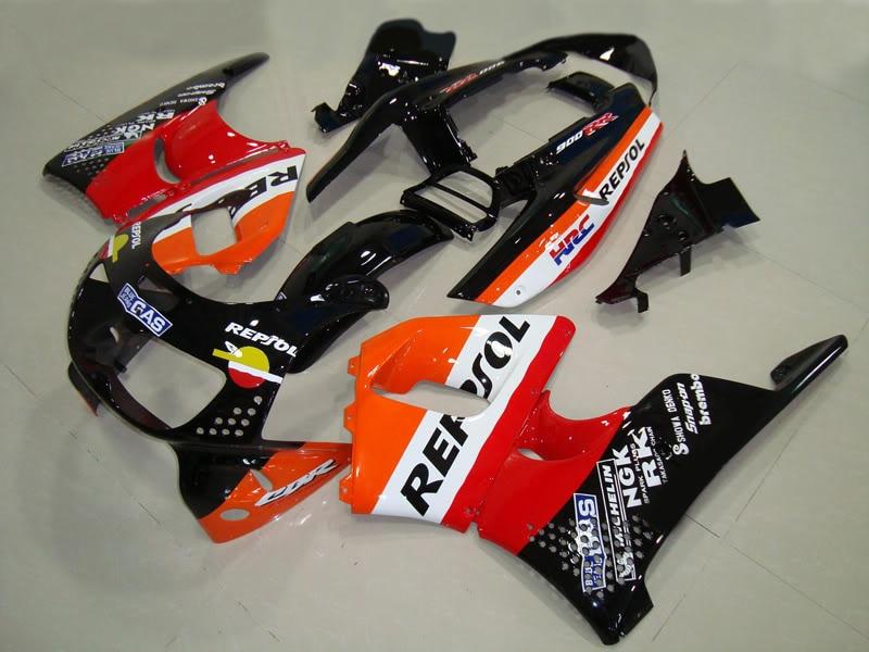 Kit de carénage d'usine ABS pour HD 1996 1997 CBR900RR CBR 893RR 96 97 repsol Orange moto CBR 893 carénages ensemble