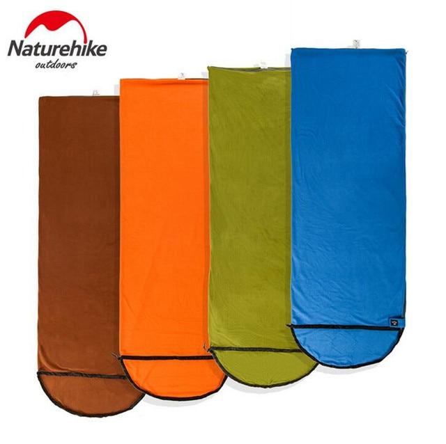 Naturehike Outdoor Summer Camping Envelope Fleece Sleeping Bags Adult Outdoor Heat Preservation Single Sleeping Bag