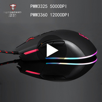 Motospeed V70 PMW3360 PMW3325 Game Gaming Mouse Gamer Mause Wired With Backlight For Laptop PC Computer RGB Ergonomic Optical