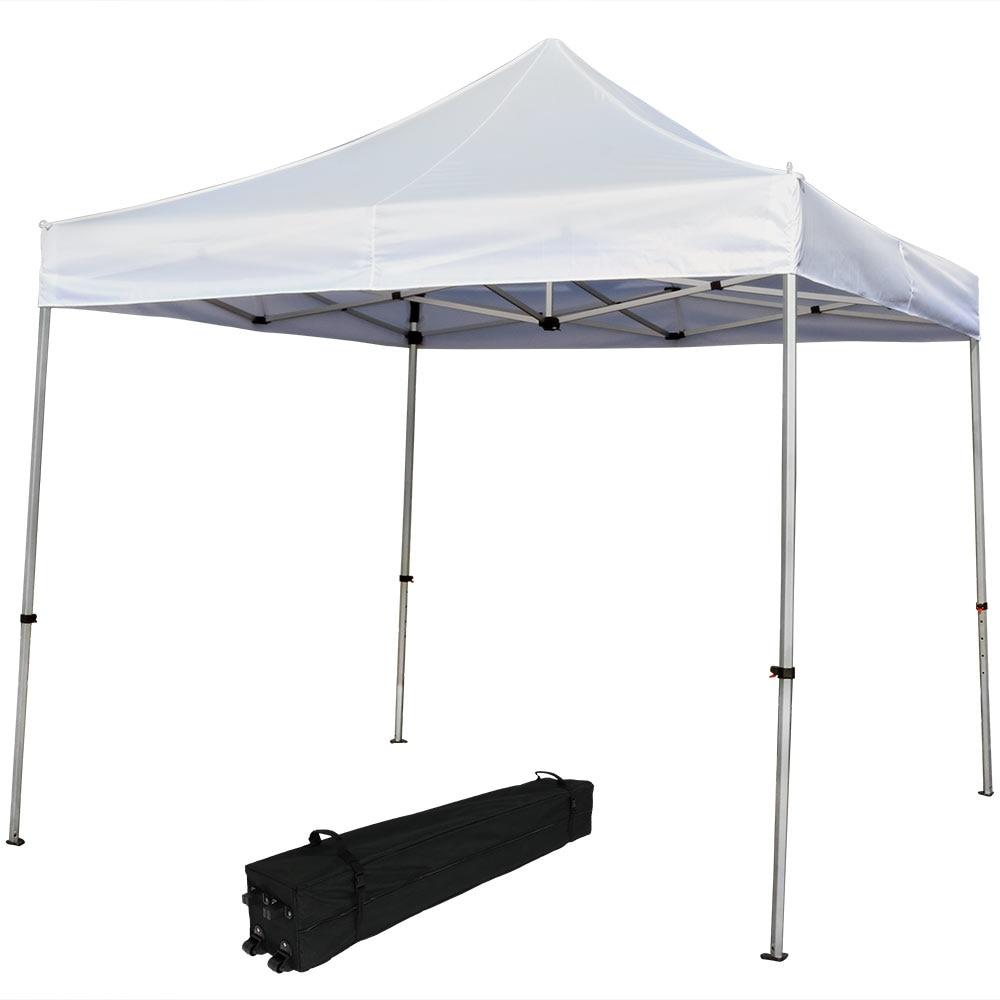 Sunnydaze Commercial Grade Heavy-Duty Aluminum Straight Leg Quick-Up Instant Canopy Event Shelter, 10 x 10 Foot, Includes Rol... дырокол deli heavy duty e0130