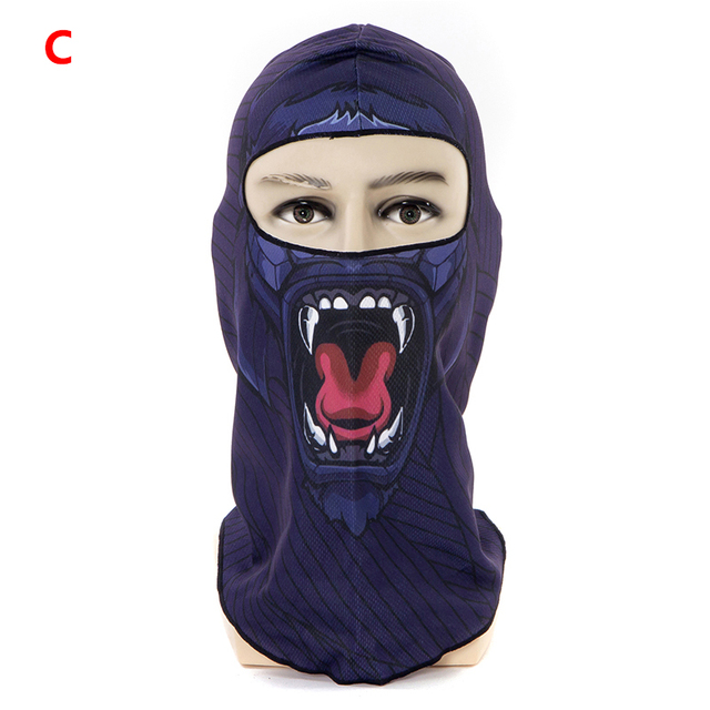 1pcs 3D Outdoor Sport Creative Mask Anti-UV Bicycle Riding Face Scarf Scarves Breathable Headband Protect Full Face Mask 5