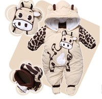 Jumpsuit Hat Shoes Animal Style Hooded Baby Rompers Boys Girls Clothes Outfits Newborn Clothing