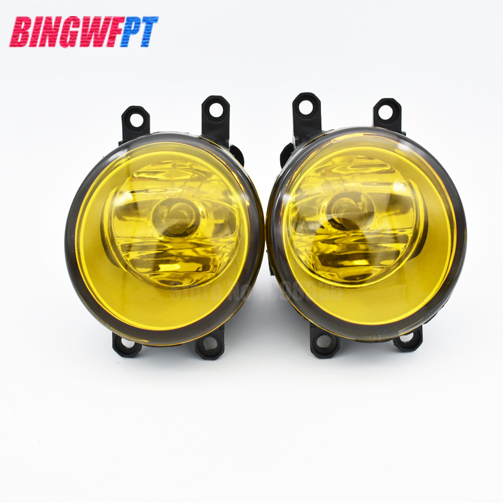 2pcs/set (Left + right) Car styling General Fog lights halogen lamps For Toyota Camry/Hybrid 2007-2013 yellow light 2 pcs set car styling front bumper light fog lamps for toyota venza 2009 10 11 12 13 14 81210 06052 left right