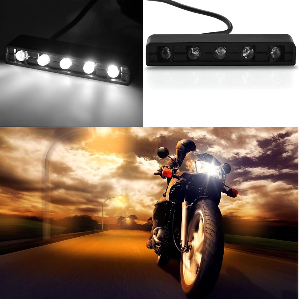 CARCHET 5 LED Motosiklet Fren Lambaları 12 V Evrensel Araba Bisiklet - Araba Farları - Fotoğraf 6