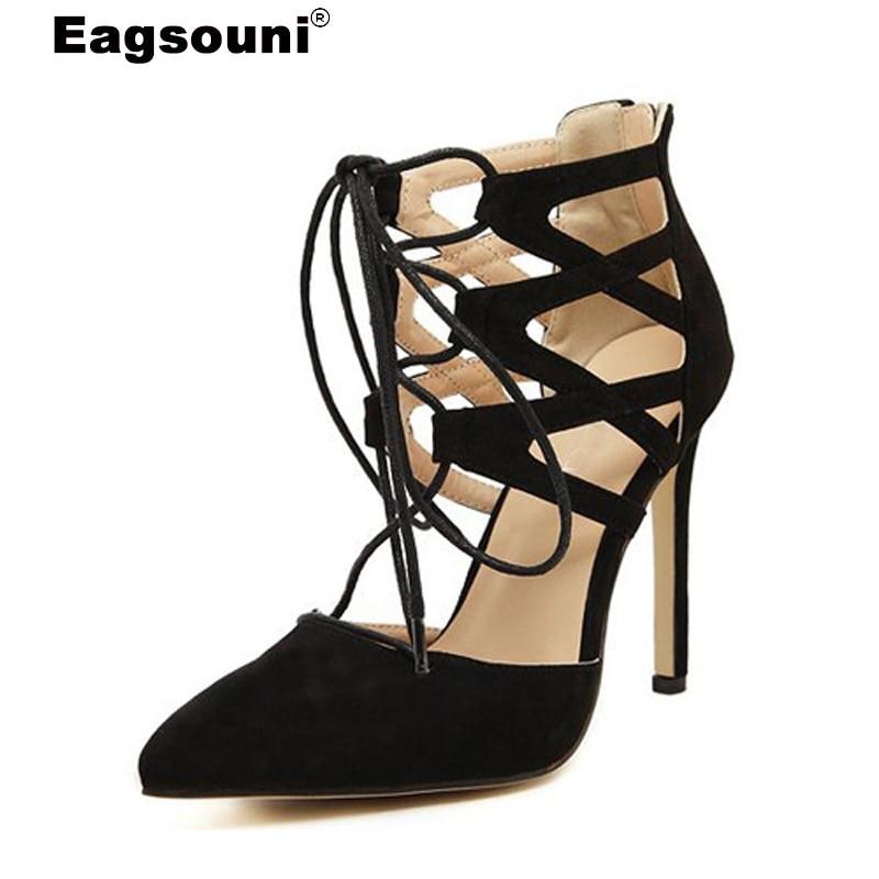 93df621fc Plus Size 35 42 Sandálias das Mulheres do Verão Feminino Moda Casual Aberto  Toe Rendas até Sandálias de Salto Alto Para A Mulher Estilo Roma Sandalias  em ...