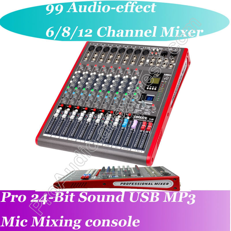 Free Shipping MICWL Bluetooth Professional 8 Channel Microphone Mixing Console Mixer - Perfect stage studio solution professional 4 channel live mixing studio audio sound console network anchor portable mixing device vocal effect processor