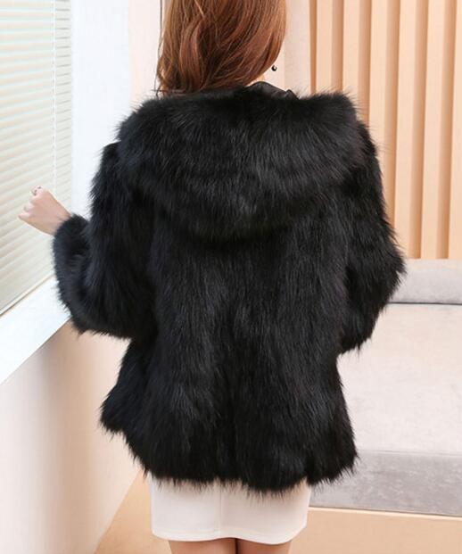Fourrure Naturel Vestes Survêtement red Fox Capuche Fox Manteaux Grande De Reroyfu Manteau Fox Renard 5xl Femmes Silver Véritable black À Taille Vêtement 5pAnwqqxd