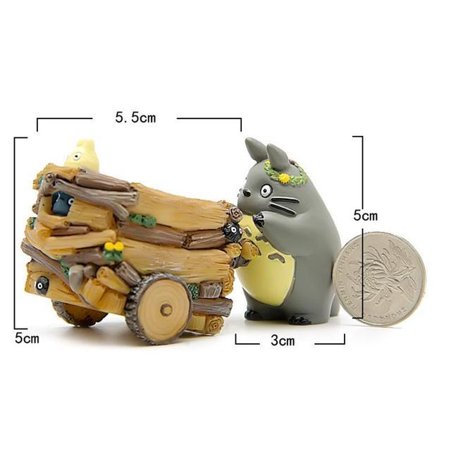 Creative Cartoon Cart Totoro Flowerpot Resin Japanese Miniature Figurines Gift Anime Figurine Ornaments Desktop Decor Home Decor 3