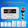 2016 Envío Libre Sistema de Alarma GSM Wireless Home Antirrobos Seguridad Guardia M3D Apoyo Relé de Control del Hogar Inteligente Voz
