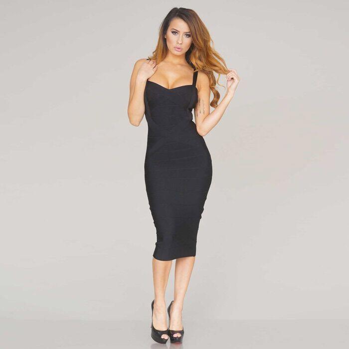 nieuwe 2018 vrouwen sexy celebrity midi rood wit hl elastische - Dameskleding - Foto 3