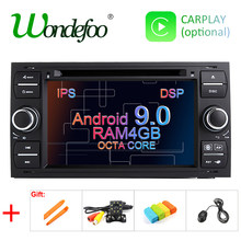 4G Android 9.0 DSP IPS Radio GPS Pour Ford Mondeo s-max Focus C-MAX Galaxy Fiesta transit Fusion Connecter Kuga 2 DIN LECTEUR DVD(China)