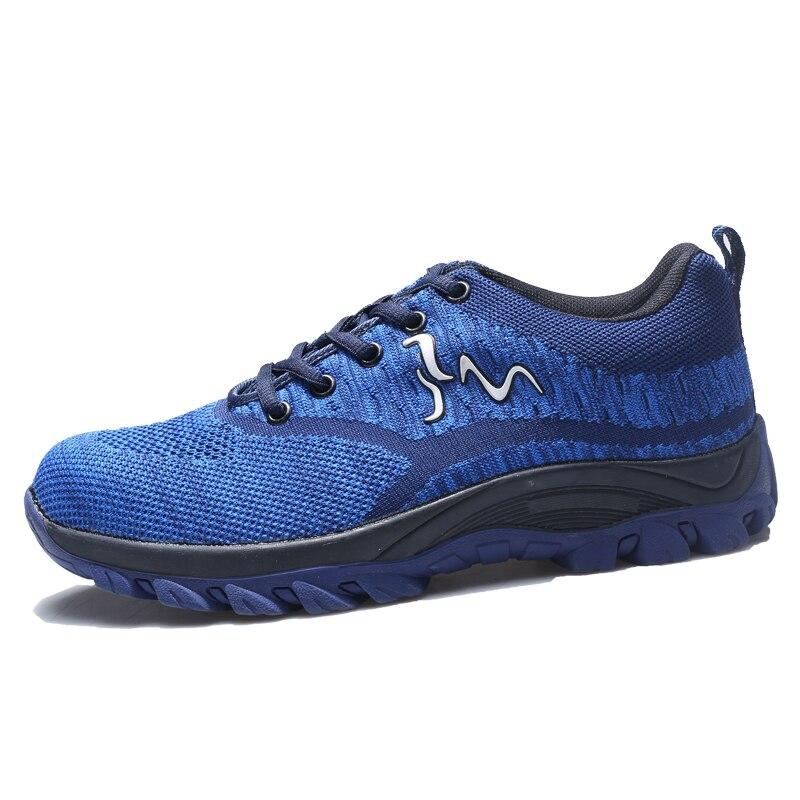 Respirant Orteil Léger Nouveau Black Casual En red Mode Taille blue gray Protection Sneaker Sécurité Air De Acier Hommes 35 46 Travail Plein Chaussures qwYzrvq