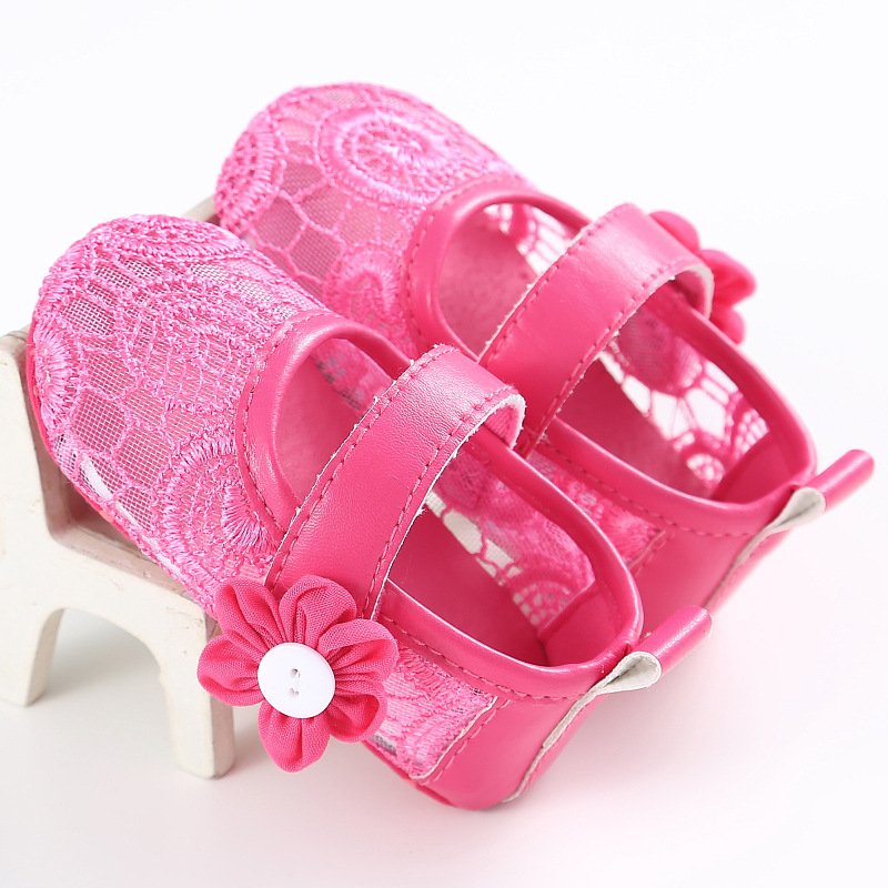 Cute Lace Pure Color Baby Girls Shes Soft Sole Summer Princess Shoes Infants Toddler Shoes