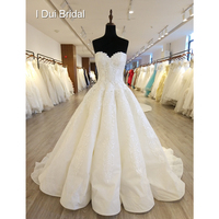 Sweetheart New Wedding Dresses Ball Gown High Quality Lace Appliqued Royal Luxury Bridal Gown