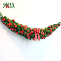 NU CHI 2018 Christmas Ornaments Claw Vine Stars & Bow & Intensive Harvest Fruit & Pine Needles Christmas Wreath Party Essential