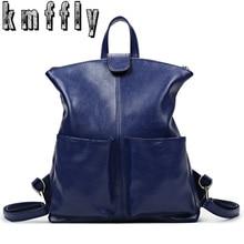 Kmffly женщины рюкзак высокое качество из искусственной кожи SAC основной школьные сумки для подростков девочек топ-ручка большой пакет мощность