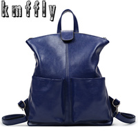 KMFFLY Women Backpack High Quality PU Leather Sac A Main School Bags For Teenagers Girls Top