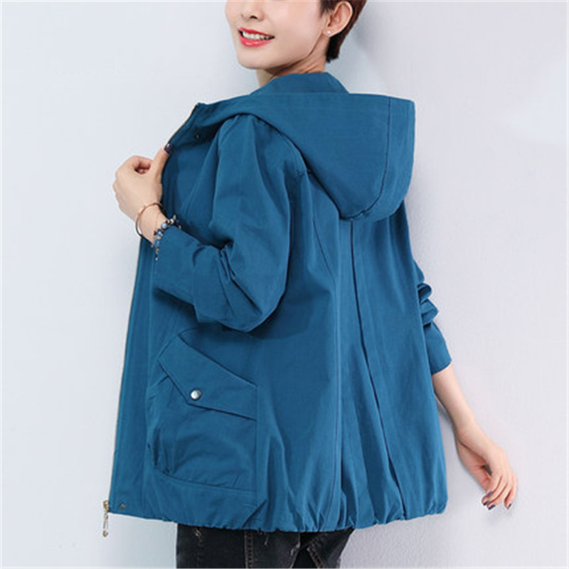 2020 New Middle-aged Mother Loose Spring Autumn Coats Korean Short Jacket Female Large Size Women's Jacket Wind Clothes X309