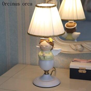 Cartoon inspiration angel desk lamp girl bedroom children's room table lamp American character LED doll decorative lamp