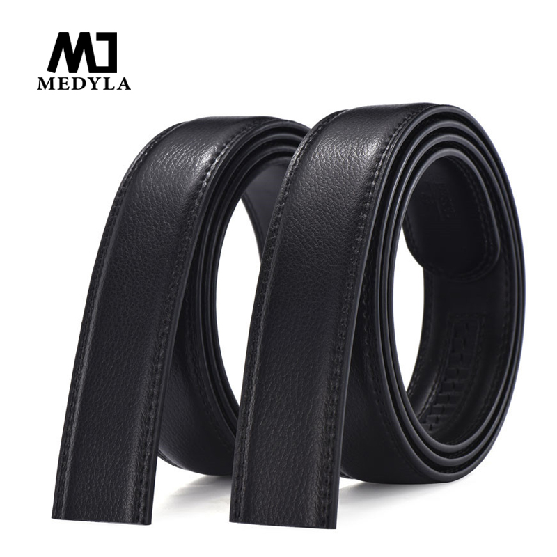 MEDYLA Brand Designer Leather Strap Male Belt Automatic Buckle Belts For Men 3.5cm Girdle Wide Mens Belt Waistband Ceinture