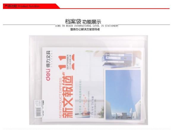 6pcs Waterproof Transparent Rope Book A4 Paper File Folder Bag Accordion Style Design Document Rectangle Office School