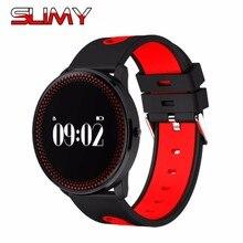 Viscoso Smartwatch Bluetooth Relógio Inteligente CF007 IP68 À Prova D' Água Relógio Do Esporte Pedômetro Heart Rate Monitor de Pressão Arterial
