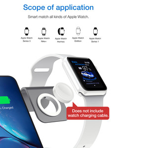 Image 5 - 3 in 1 Wireless Charging Station Phone Holder Qi Fast Wireless Charger Base For iPhone 8 X Samsung Galaxy S6 S7 S8 Apple i Watch