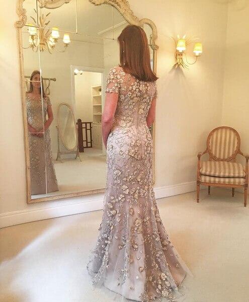 16b739ccb7da5 Big Sale] 2019 New Floral Mother of The Bride Dresses Plus Size ...