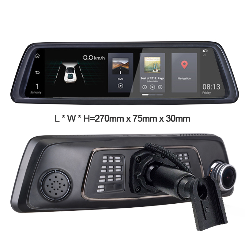 10 Dash Camera Car DVR Full Touch IPS 4G Android Mirror GPS FHD 1080P Car Camera Vehicle ...