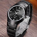 2017 DOM sapphire crystal scratch wear casual water resistant 200meters Men luxury full tungsten steel watch women dress watches