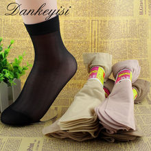 20 pcs /lot Women Summer Socks Women Crystal Short Socks For Woman 2017 Female Elastic Nylon Socks & Hosiery(China)