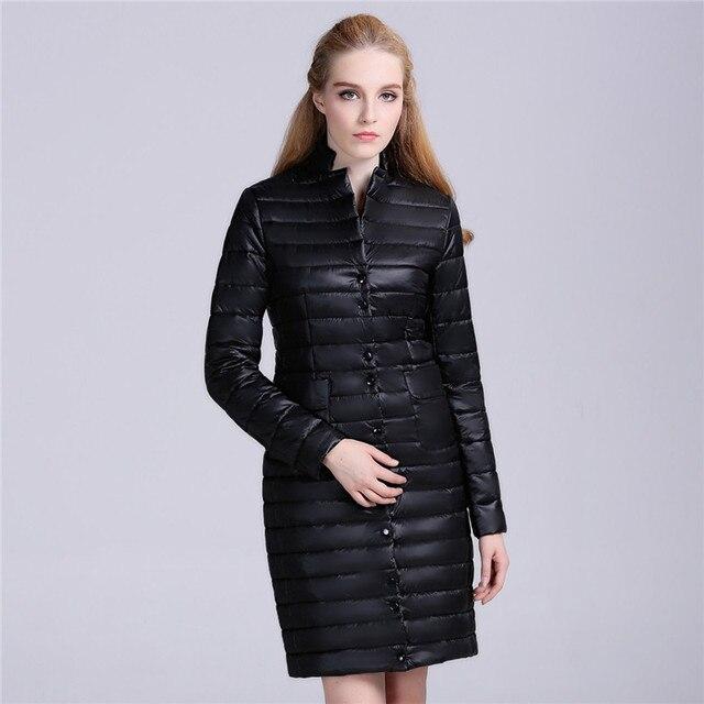 Rongzhiyu 2016 Бренд Одежды Новая Мода Горячие Продают Женщины дамы пальто Длинный Жакет С Полный Рукав зима Парка Пальто