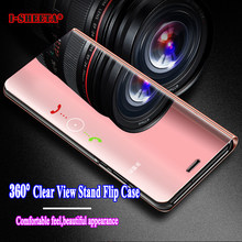 Luxury Plating Clear View Mirror Stand Filp Case 360 Full Protective Cover for Huawei Mate 10 20 Pro Lite 20Pro 20Lite Cases(China)