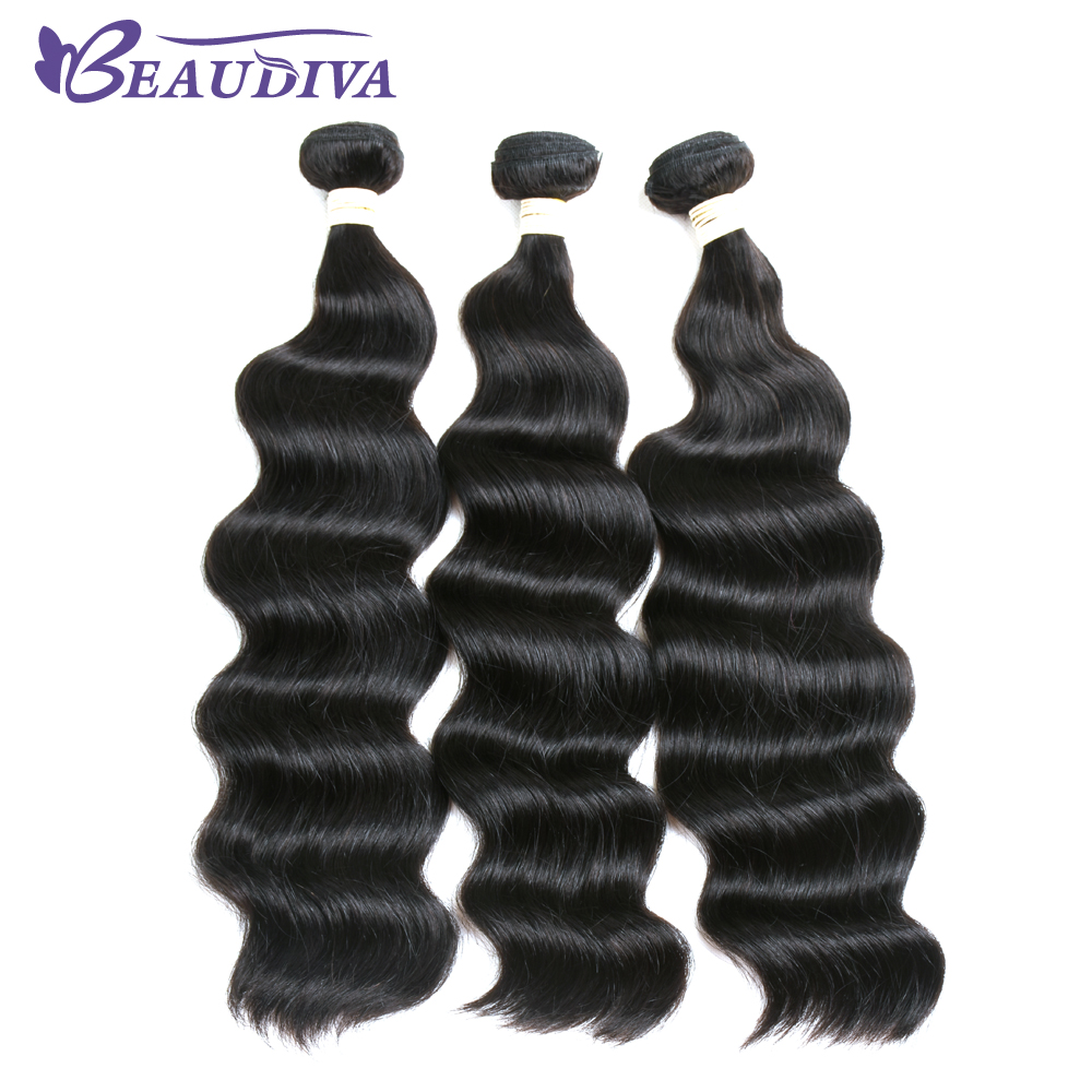 Hair Extensions & Wigs Hair Weaves Aggressive Beaudiva Pre-colored 3pcs Lot Human Hair Weave Ocean Wave 5 Color Ocean Wave Hair Bundles 10-24inch Free Shipping To Adopt Advanced Technology