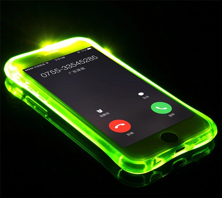 High Quality Transparent Luminous LED Flash Back Cover Shell For iPhone Models 9