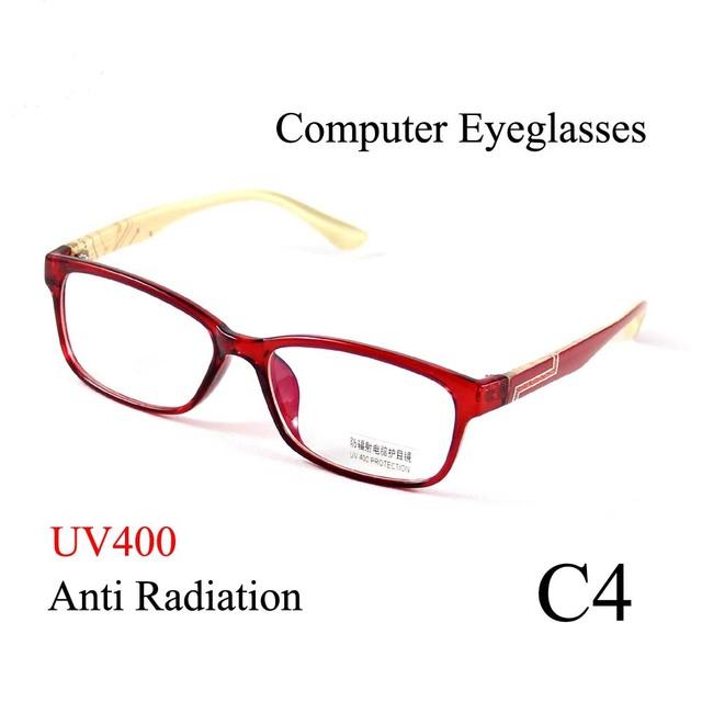 3 Cores Óculos Homens Óculos Mulheres Óculos De Armação de Computador Anti Radiação Óculos de Leitura Lente Clara Óculos ao ar livre 9019