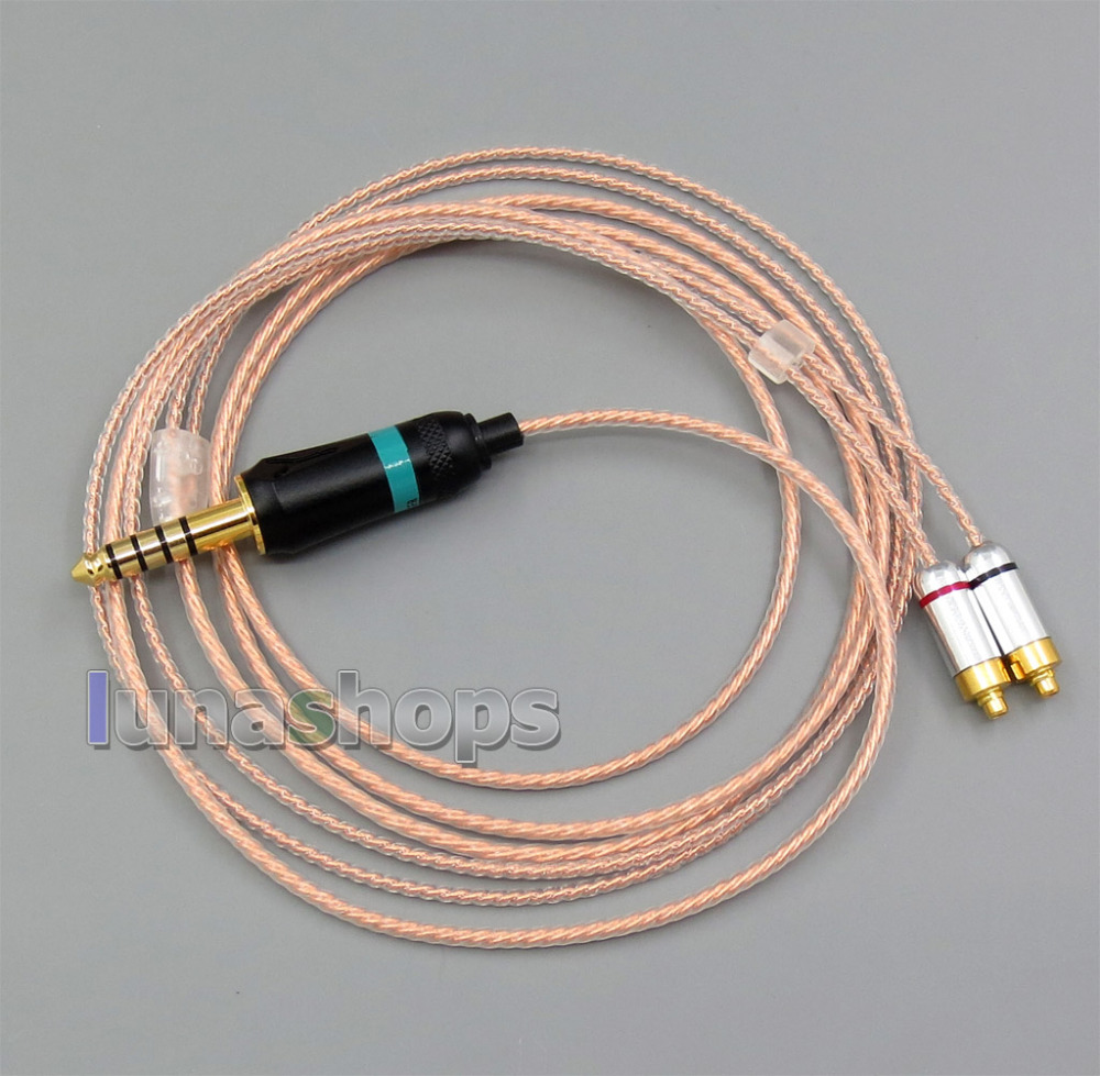 4.4mm Earphone Silver 7N OCC Cable For DUNU DN-2002 2BA T5 2Dynamic Hybrid LN005662 dunu dn 26m наушники