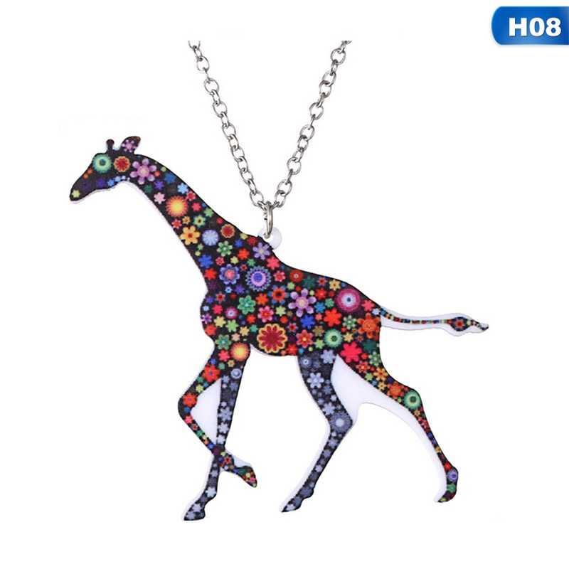 Collar de Animal de acrílico para mascotas gato jirafa cerdo caballo perro Camel collar mujeres Bohemia colgante étnico collares largos joyería