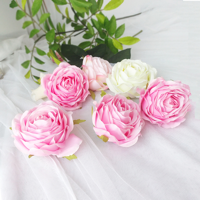 High quality Artificial Silk Rose Head Home Party Decorative Flower Wedding Arch Backdrop Decoration