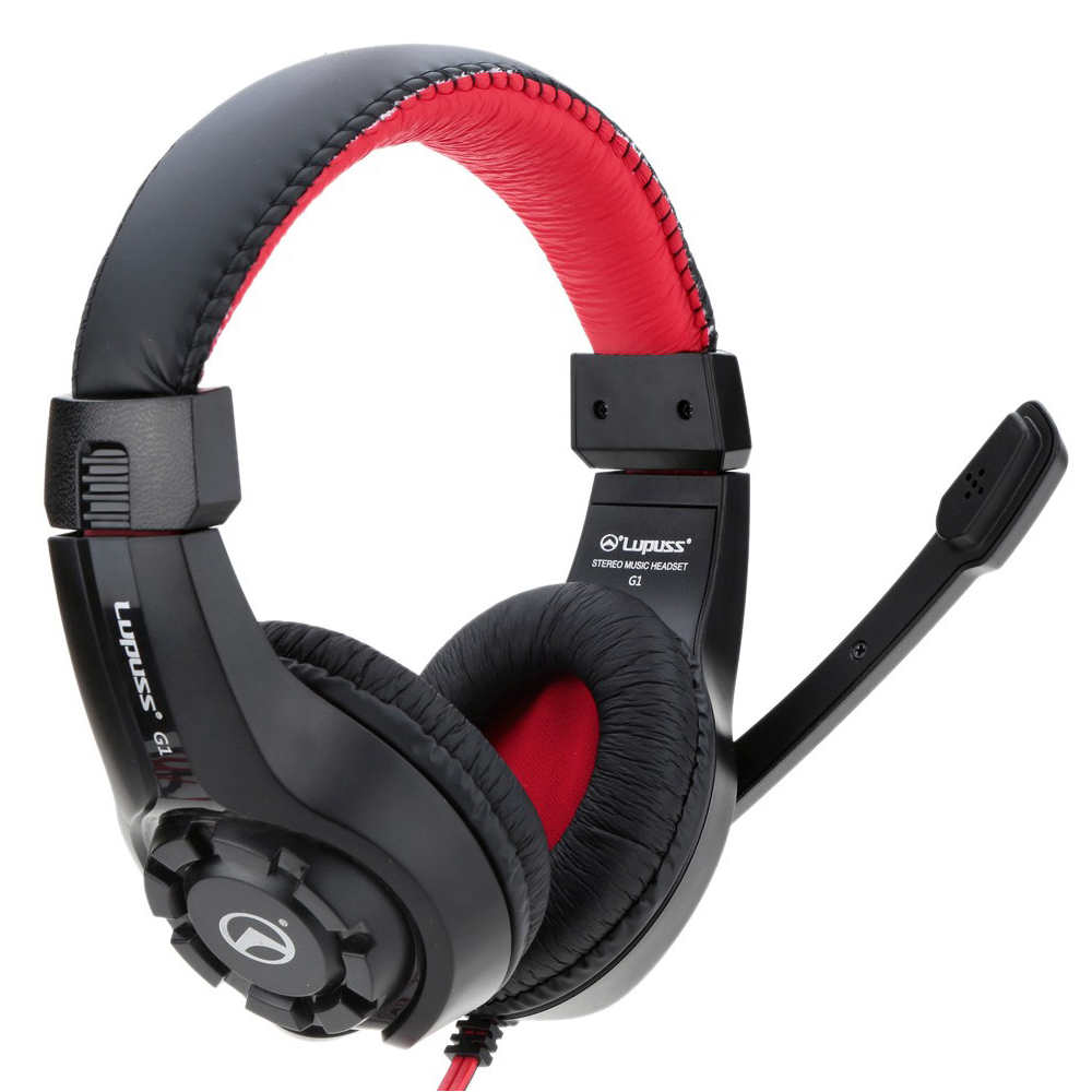 Headphone Surround Stereo Headband Super Clear Bass Adjustable Game Gaming Headphones with Mic Wired For Computer PC Game