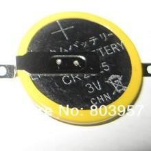 500 шт./лот литиевая батарейка кнопочного типа 3 в ячейка/таблетка Батарея CR2025 со вкладкой