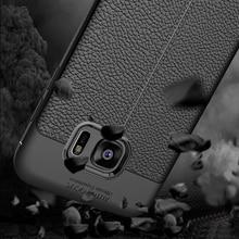 YUETUO кожаный узор мягкий ТПУ Телефон задняя крышка capinha, etui, coque, чехол, чехол для Samsung Galaxy S7 S 7 силикон. силикон. аксессуары