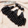 Star Style Hair brazilian virgin hair 3pcs/lot Funmi hair extenstion Tangle Free brazilian hair weave bundles Free Shipping