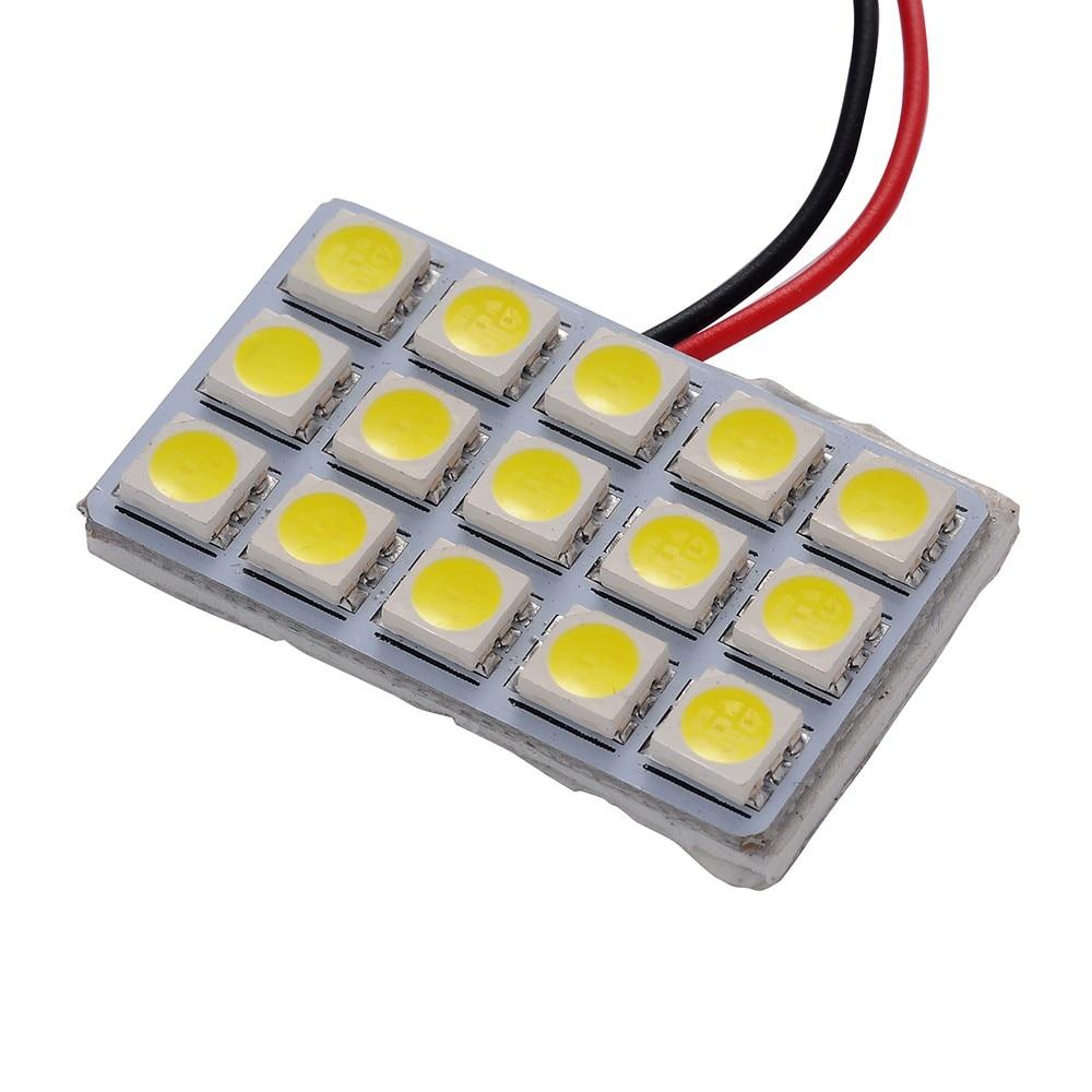1 unids 5050 15SMD LED Car Light Reading 12 V Fuente de Luz de Coche Universal P